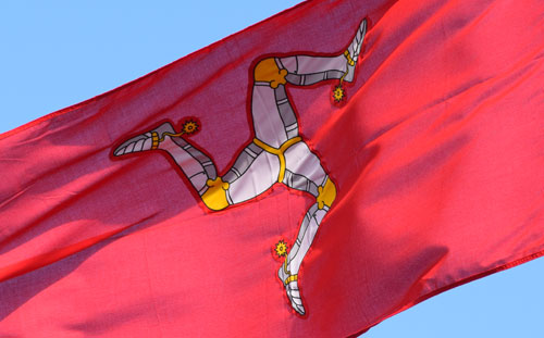 The flag of the isle of Mann