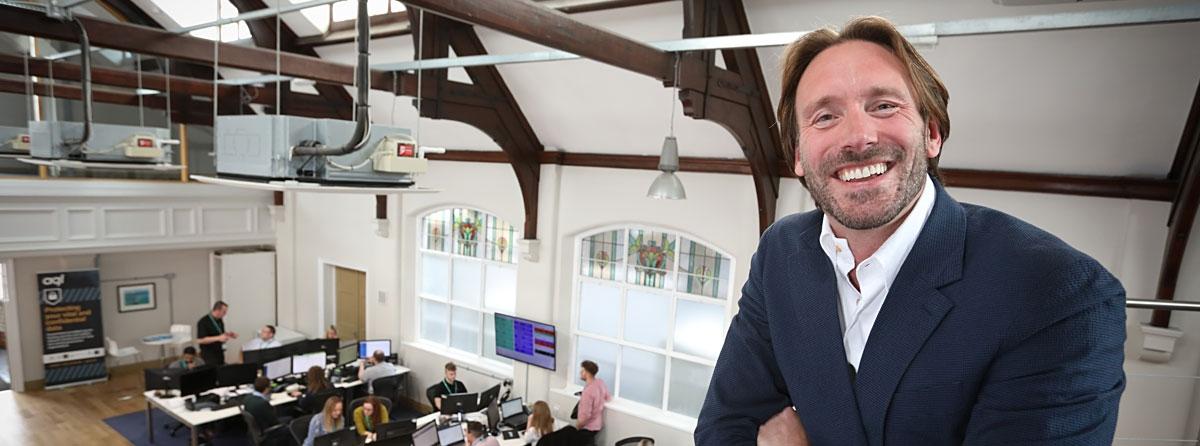 Professor Adam Beaumont at aql HQ
