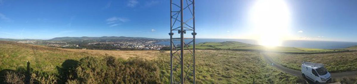View over Carnane from the BlueWave transmitter.